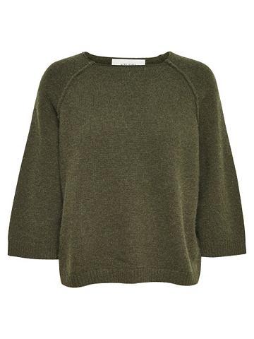 Короткая geschnittene блуза с 3/4 рука...