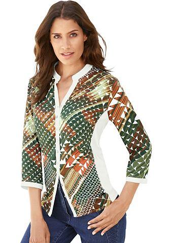 Блуза в wunderschön с узором Web-...