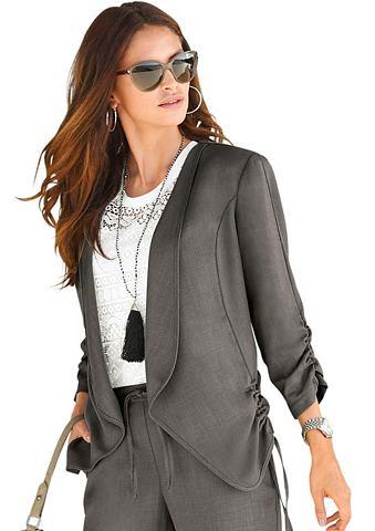 Пиджак-рубашка в летний имитация льна