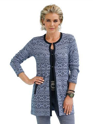 Пиджак трикотажный в модный länge...