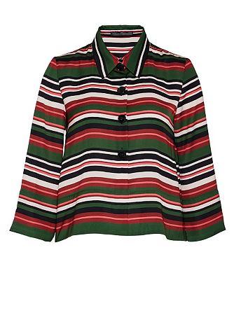Полосатый рубашка-куртка