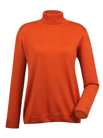 MONA Пуловер с воротником с шерсть мериноса...