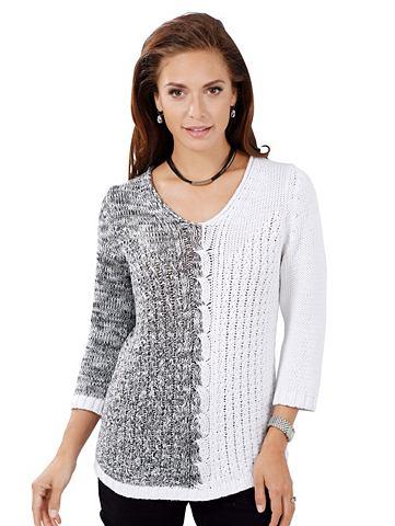 Пуловер с Melangegarn