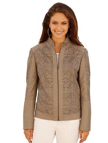 Куртка кожаная с Laser-Cut-Zier
