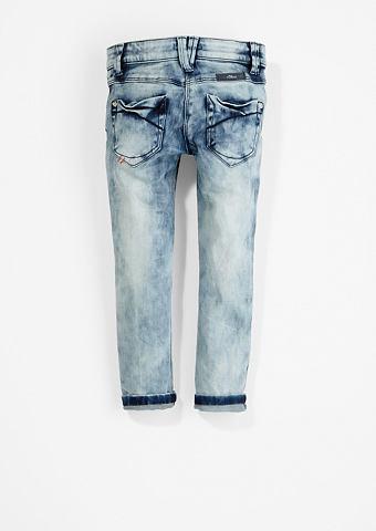 Облегающий Kathy: Moonwash-Jeans f