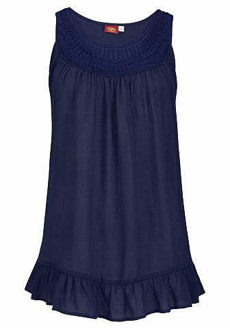 Пляжная блузка с с воланами