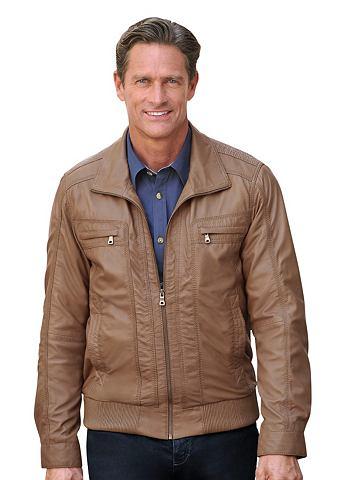Куртка кожаная с markanten отстрочкой