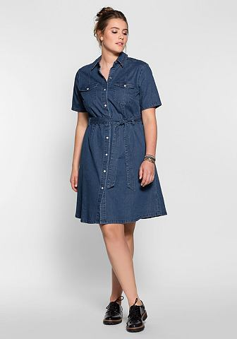 Sheego джинсы платье джинсовое