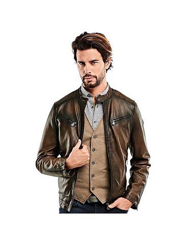 Куртка кожаная в в винтажном стиле