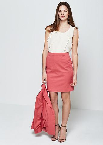 Классический юбка из утонченный атлас