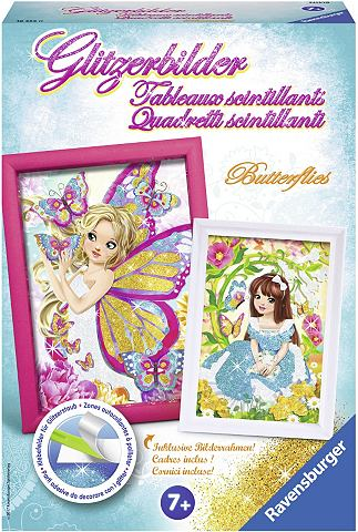 "RAVENSBURGER Kreativset ""Glitzerbilder Butterf..."