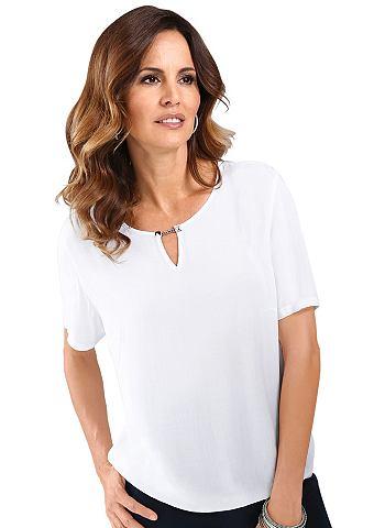 Блуза с silberfarbener декоративная це...