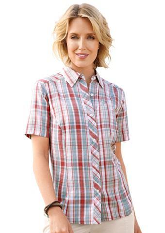 Блуза с легко закругленный кромка