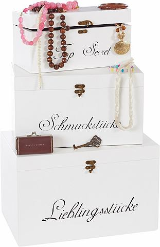 Ящик для хранения (3er-Set) с бархат I...