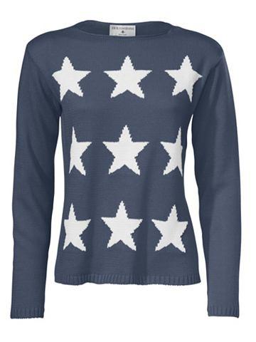 Пуловер интарсия Звезда