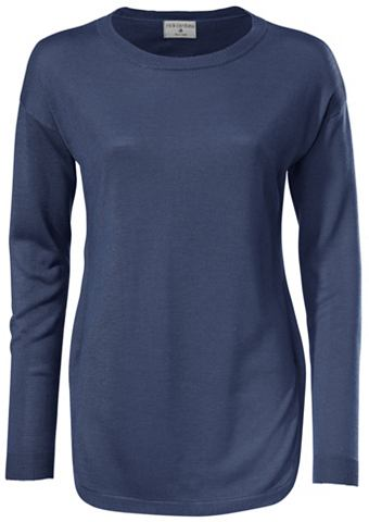 Пуловер с круглым вырезом с боковой ра...