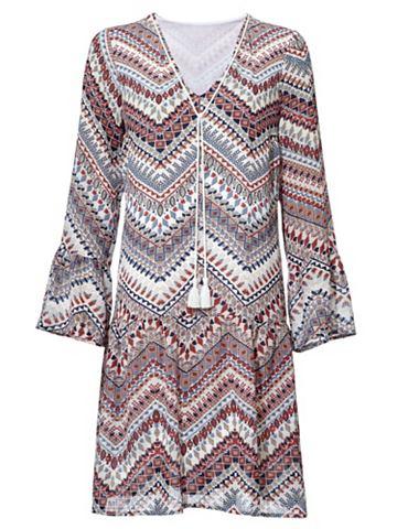 Платье с с воланами на рукав