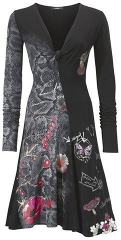 Платье с Knotenoptik на вырез