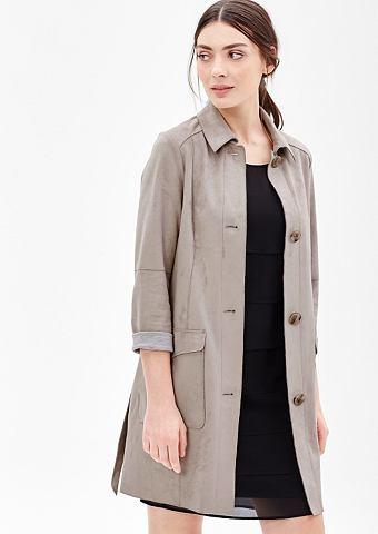 Пальто короткое в Wildleder-Optik