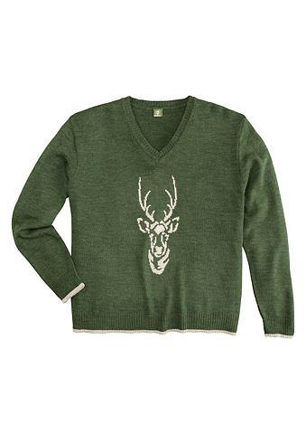 Пуловер Herren с мотив оленя