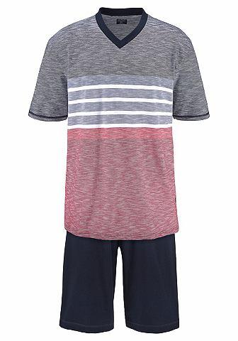 Пижама короткая в Melange цвета
