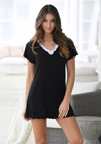 Короткое рубашка ночная в edlen Layerd...