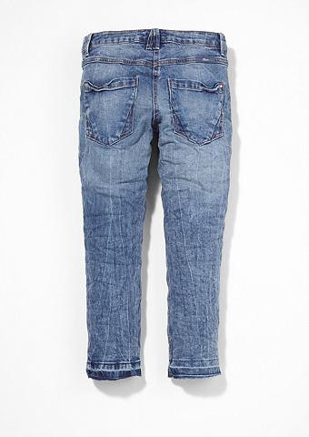 Suri: узкие джинсы с имитация тертый т...