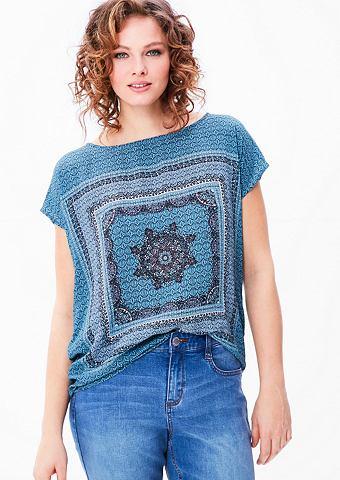 Блузка-рубашка с этно узор
