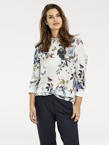 Блузка с набивным рисунком с цветочным узором