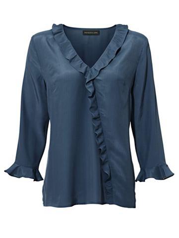 Блузка из шелка с c воланами