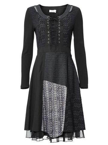 Платье со вставками с завязывание