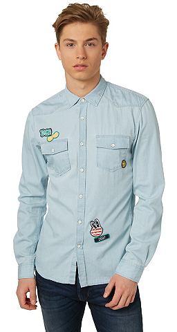 Рубашка »Denim-Hemd с Patches&la...