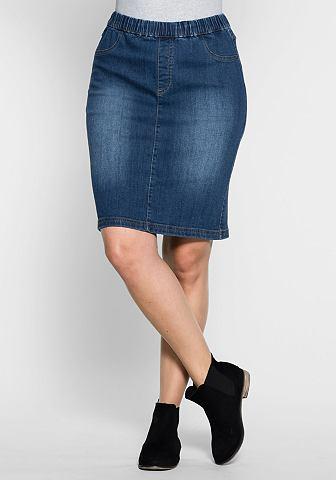 Sheego джинсы юбка джинсовая
