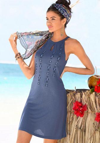 Платье пляжное с этнический принт