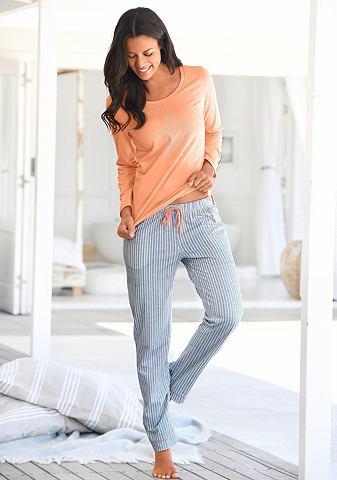 Пижама с längsgestreifter брюки