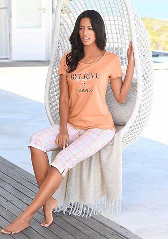 Пижама-капри с zart клетчатый брюки