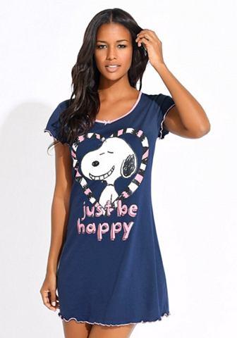 Рубашка ночная с Snoopy »just be...