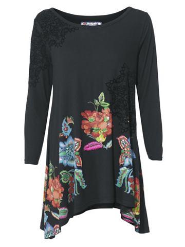 Блуза с круглым вырезом с с пайетками