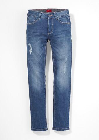 Seattle: эластичный джинсы потертые дл...