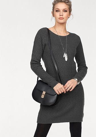 Платье трикотажное »POSH« с утонченный Strickmuster