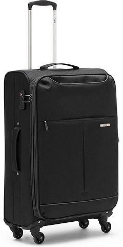 Текстильный чемодан с 4 колесики