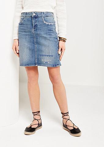 Богато gewaschener kurzer юбка джинсов...