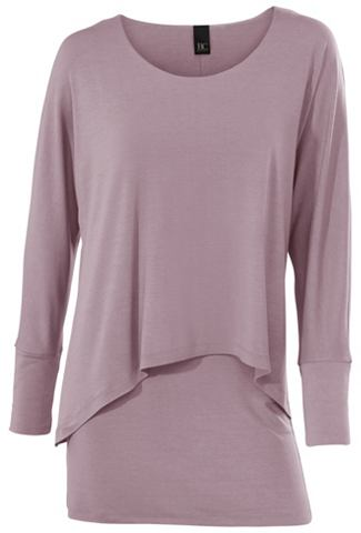 Блуза с круглым вырезом в асимметричны...