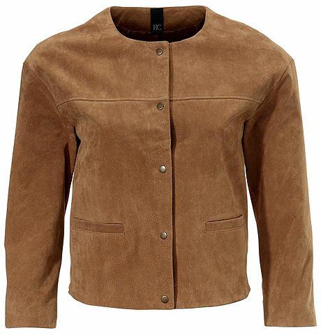 Куртка кожаная из geschmeidigem Velour...