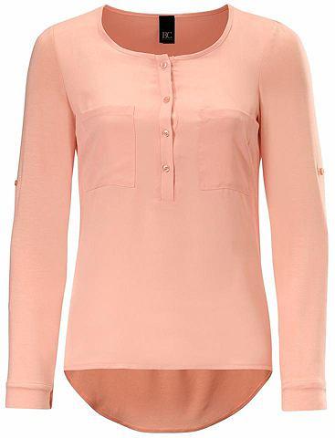 Блузка-рубашка на передней части с шиф...