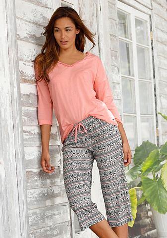 Пижама-капри с брюки в этно узор