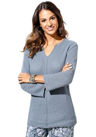 Пуловер в luftigem Wabenmuster