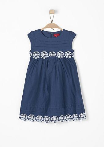 Хлопковое платье с кружева f