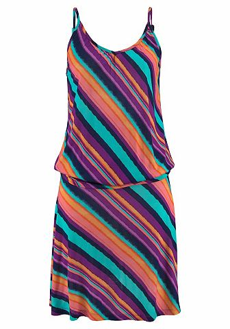 Платье пляжное с морщинистыми Seiten