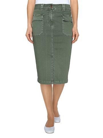 Юбка джинсовая в модный имитация терты...